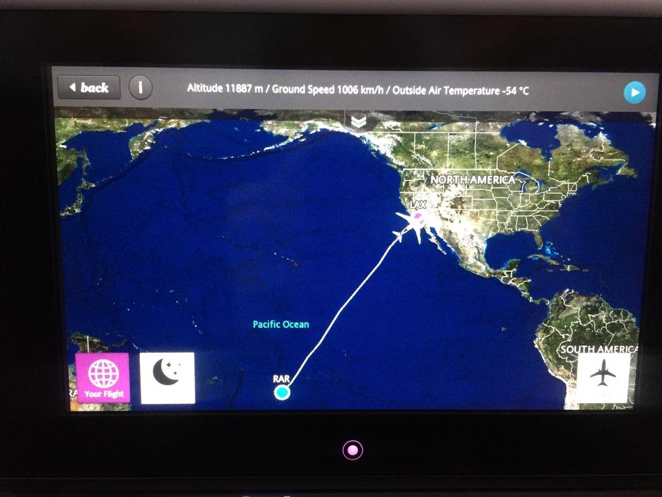 Rarotonga to Sitka Alaska